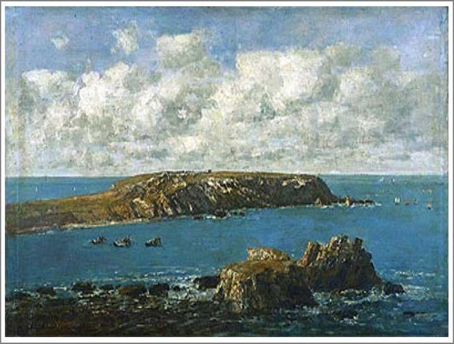 絵画(油絵複製画)制作 ウジェーヌ・ブータン「カマレ海岸、トゥーランゲ岬」