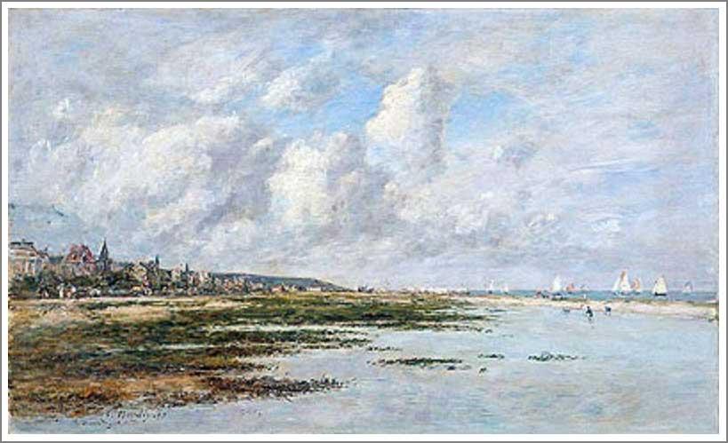絵画(油絵複製画)制作 ウジェーヌ・ブータン「ドービルの干潮」