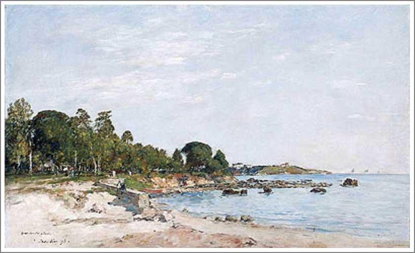 絵画(油絵複製画)制作 ウジェーヌ・ブータン「ジュアン・レ・パンの湾岸」