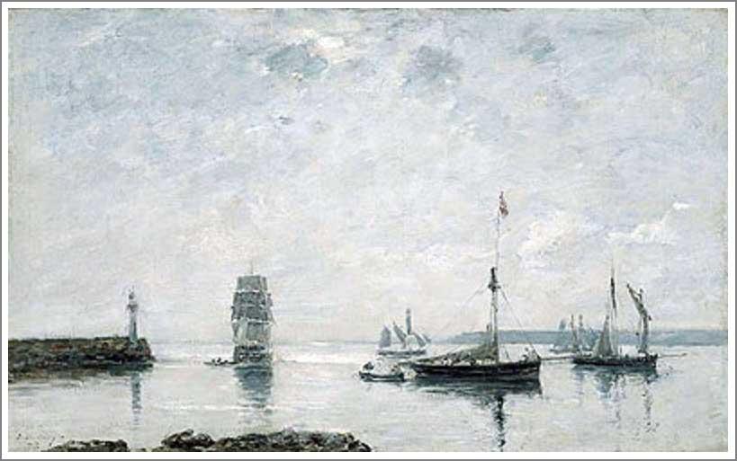 絵画(油絵複製画)制作 ウジェーヌ・ブータン「港の入り口」
