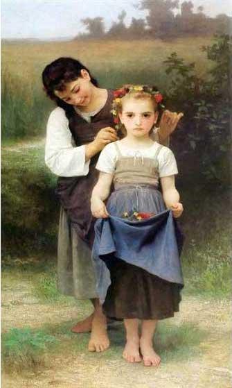 絵画(油絵複製画)制作 ウィリアム・ブグロー「大地の宝」