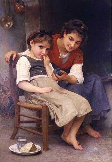 絵画(油絵複製画)制作 ウィリアム・ブグロー「すねる少女」