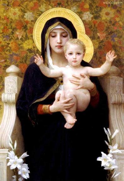絵画(油絵複製画)制作 ウィリアム・ブグロー「百合の聖母マリア」