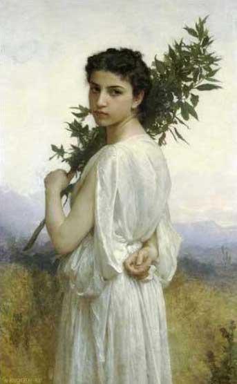 絵画(油絵複製画)制作 ウィリアム・ブグロー「月桂樹の枝」