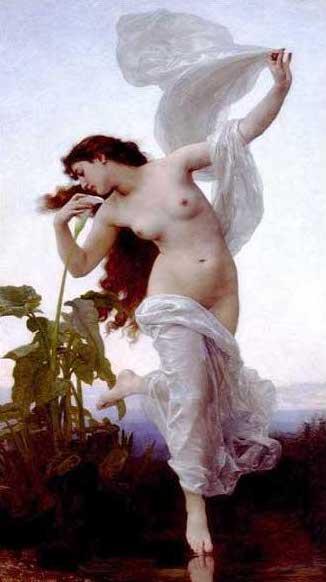 絵画(油絵複製画)制作 ウィリアム・ブグロー「夜明け」