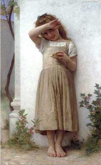 絵画(油絵複製画)制作 ウィリアム・ブグロー「後悔」