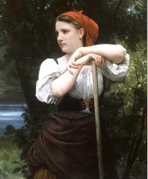 絵画(油絵複製画)制作 ウィリアム・ブグロー「干し草を作る人」