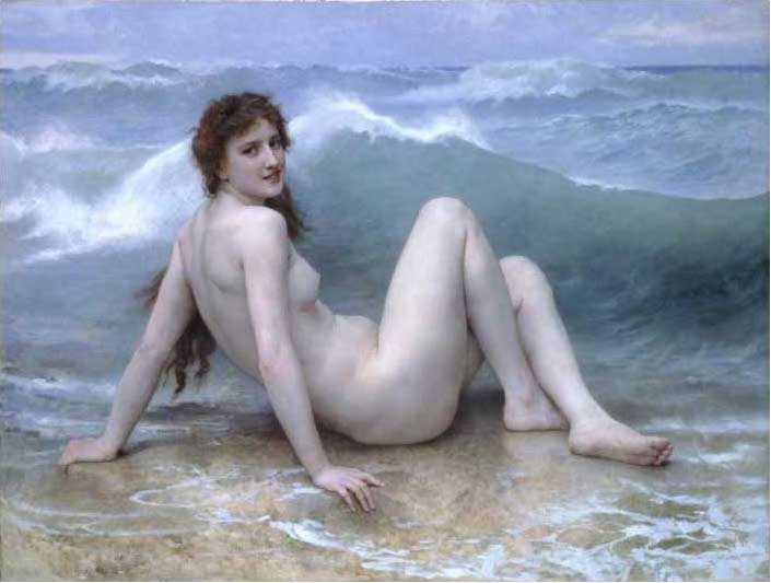 絵画(油絵複製画)制作 ウィリアム・ブグロー「波」