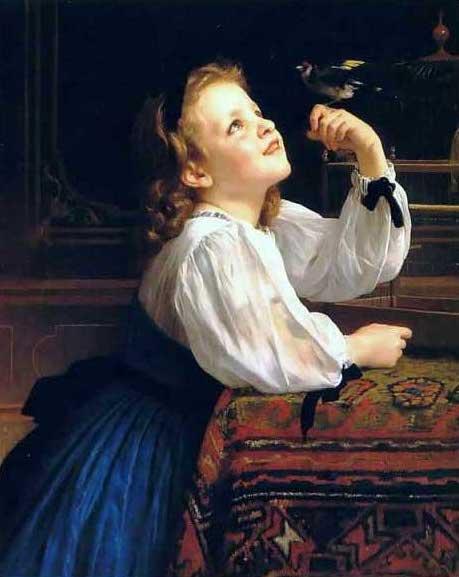 絵画(油絵複製画)制作 ウィリアム・ブグロー「ディア・バード」