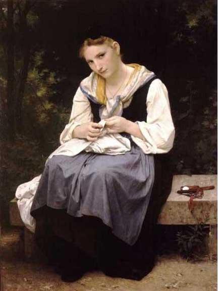 絵画(油絵複製画)制作 ウィリアム・ブグロー「働く少女」