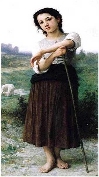絵画(油絵複製画)制作 ウィリアム・ブグロー「立てる若い羊飼い」