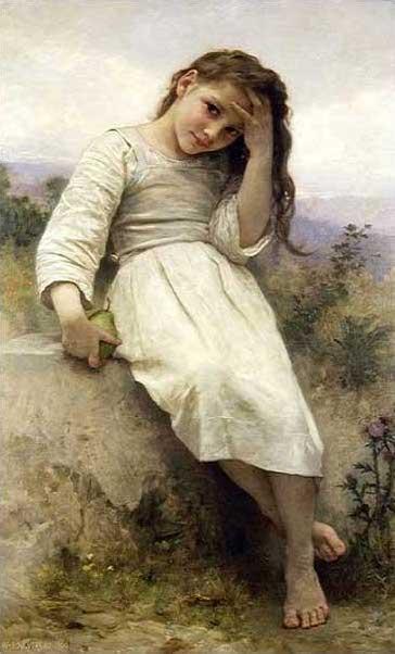 絵画(油絵複製画)制作 ウィリアム・ブグロー「小さな泥棒」