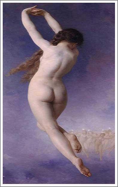 絵画(油絵複製画)制作 ウィリアム・ブグロー「消えたプレヤード」