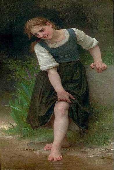 絵画(油絵複製画)制作 ウィリアム・ブグロー「浅瀬」