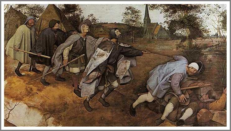 絵画(油絵複製画)制作 ピーテル・ブリューゲル「盲人の寓話」