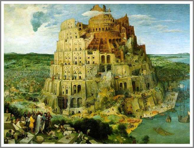 絵画(油絵複製画)制作 ピーテル・ブリューゲル「バベルの塔」