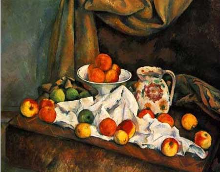 絵画(油絵複製画)制作 ポール・セザンヌ「リンゴ」