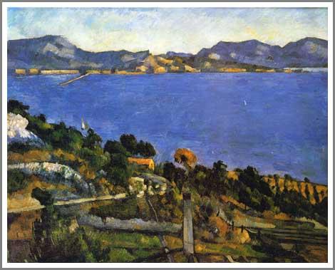 絵画(油絵複製画)制作 ポール・セザンヌ「エスタックから見たマルセイユ湾の眺め」