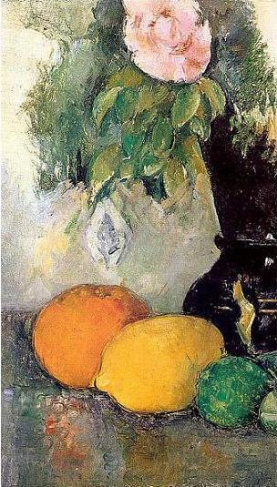 絵画(油絵複製画)制作 ポール・セザンヌ「果物と花瓶」