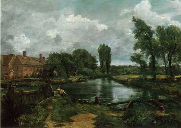 絵画(油絵複製画)制作 ジョン・コンスタブル「フラットフォードの水門と水車場」