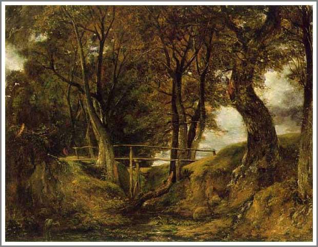 絵画(油絵複製画)制作 ジョン・コンスタブル「ヘルミンガムの小さな谷」