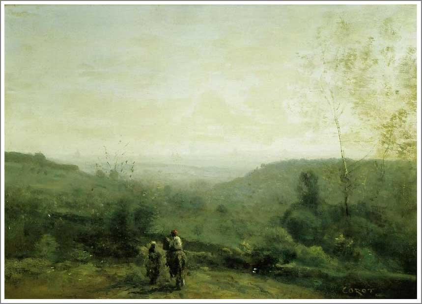 絵画(油絵複製画)制作 カミーユ・コロー「朝、霧の効果」