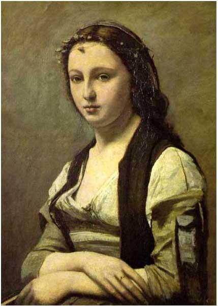 絵画(油絵複製画)制作 カミーユ・コロー「真珠の女」