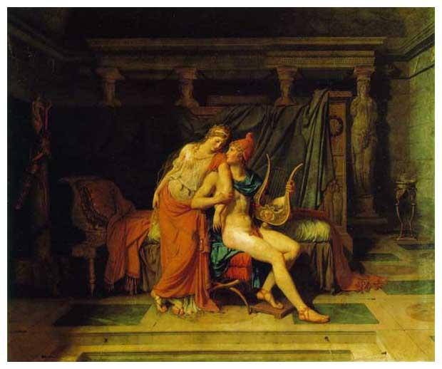 絵画(油絵複製画)制作 ルイ・ダヴィッド「パリとヘレン」