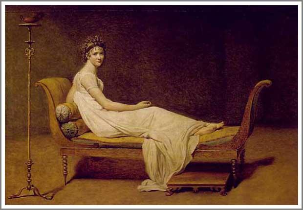 絵画(油絵複製画)制作 ルイ・ダヴィッド「レカミエ夫人」