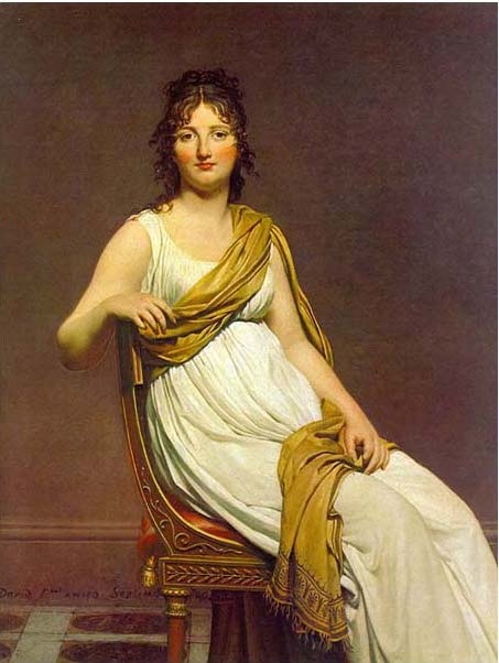絵画(油絵複製画)制作 ルイ・ダヴィッド「ヴェルニナック婦人」