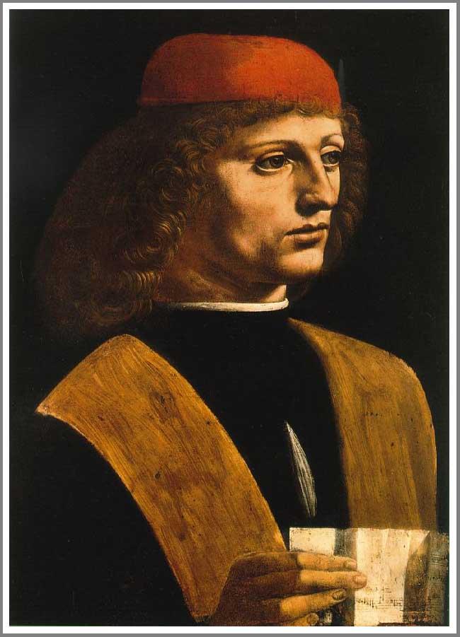 絵画(油絵複製画)制作 レオナルド・ダ・ヴィンチ「音楽家の肖像」