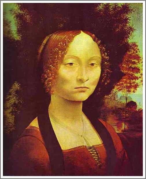 絵画(油絵複製画)制作 レオナルド・ダ・ヴィンチ「ジネヴェラ=ベンチの肖像」