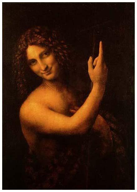絵画(油絵複製画)制作 レオナルド・ダ・ヴィンチ「洗礼者聖ヨハネ」