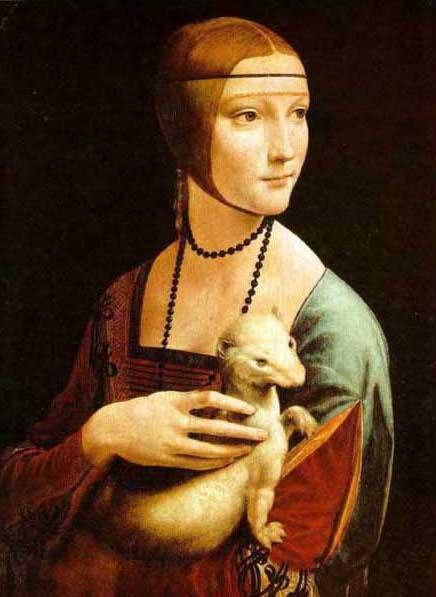 絵画(油絵複製画)制作 レオナルド・ダ・ヴィンチ「白貂を抱く貴婦人」