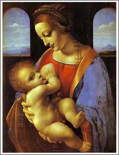 絵画(油絵複製画)制作 レオナルド・ダ・ヴィンチ「Madonna Litta」