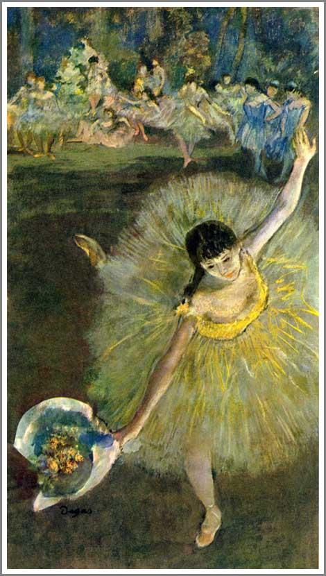 絵画(油絵複製画)制作 エドガー・ドガ「アラベスクの幕切れ」