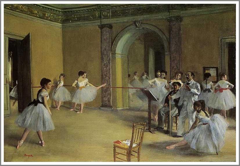 絵画(油絵複製画)制作 エドガー・ドガ「オペラ座の稽古場」