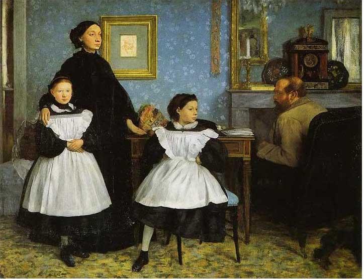 絵画(油絵複製画)制作 エドガー・ドガ「ベレッリ家の肖像」