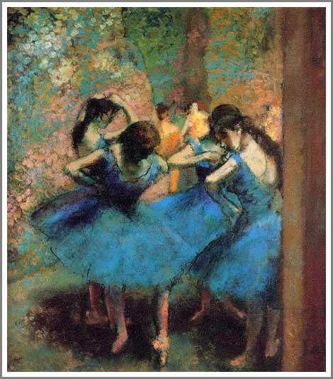 絵画(油絵複製画)制作 エドガー・ドガ「青い踊り子たち」