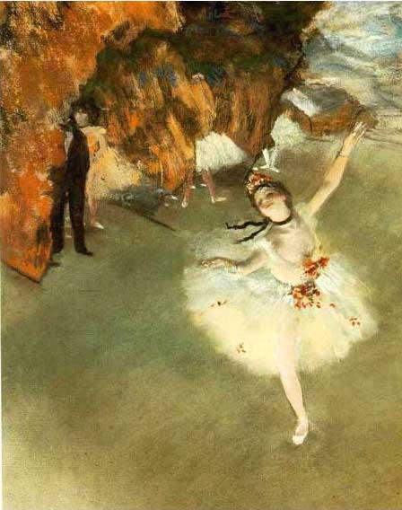 絵画(油絵複製画)制作 エドガー・ドガ「舞台の踊り子」