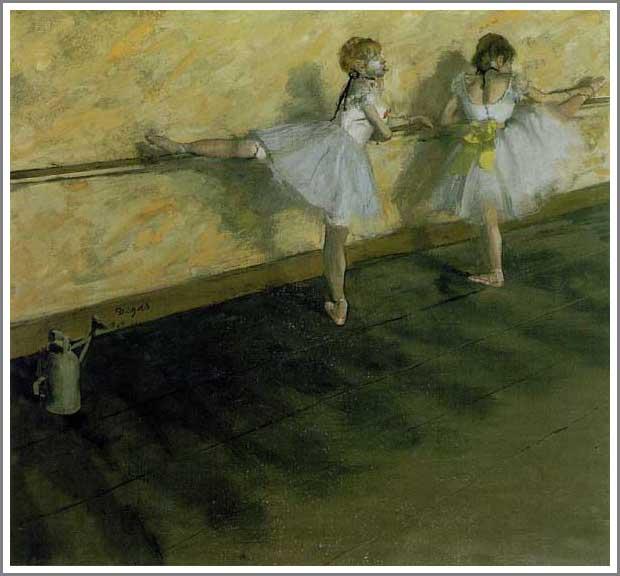 絵画(油絵複製画)制作 エドガー・ドガ「バーで練習中の踊り子」