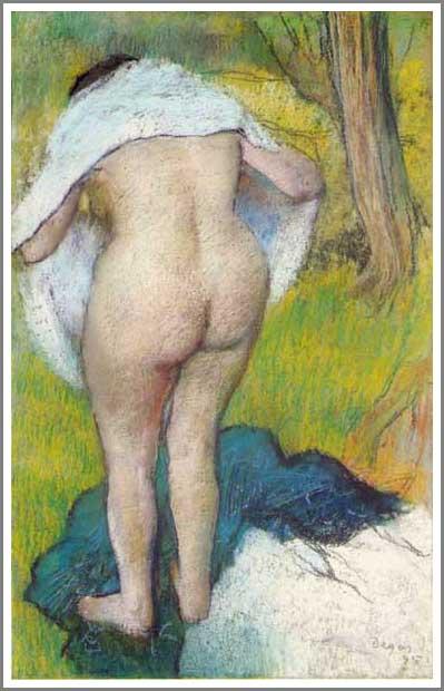 絵画(油絵複製画)制作 エドガー・ドガ「体を拭く女」