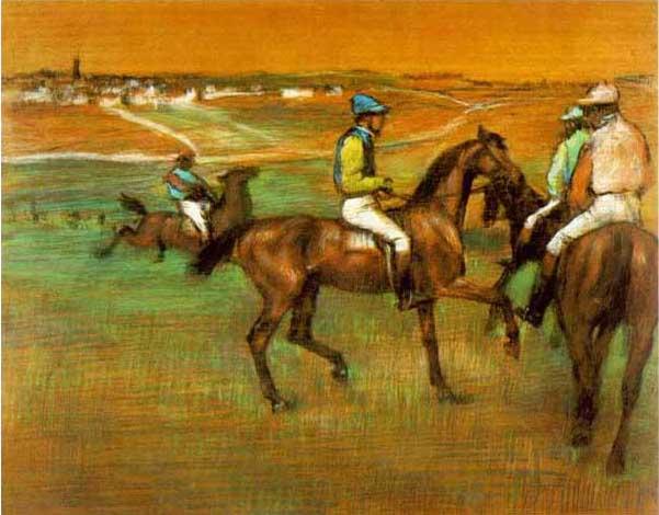絵画(油絵複製画)制作 エドガー・ドガ「競馬場」