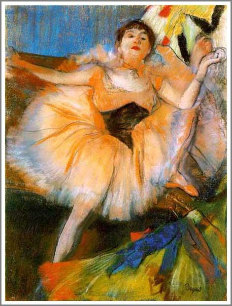 絵画(油絵複製画)制作 エドガー・ドガ「座る踊り子」