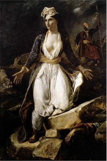 絵画(油絵複製画)制作 ウジェーヌ・ドラクロワ「ミソロンギの廃墟に立つ瀕死のギリシャ」