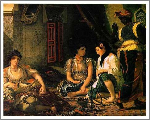 絵画(油絵複製画)制作 ウジェーヌ・ドラクロワ「アルジェの女たち」