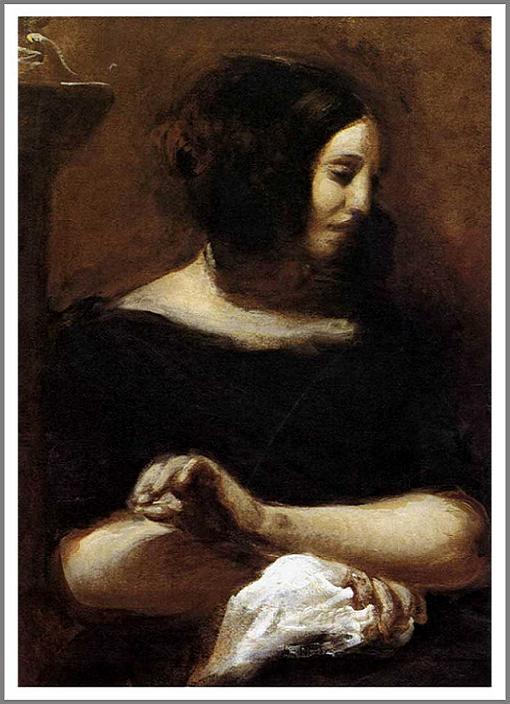 絵画(油絵複製画)制作 ウジェーヌ・ドラクロワ「ジョルジュ・サンドの肖像」