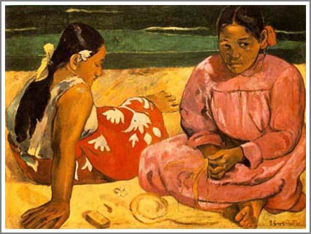 絵画(油絵複製画)制作 ポール・ゴーギャン「タヒチの女」