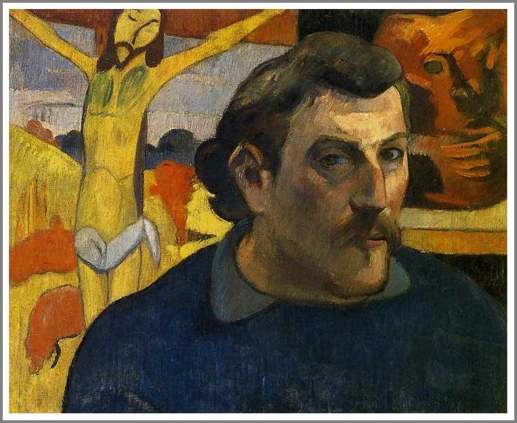絵画(油絵複製画)制作 ポール・ゴーギャン「黄色いキリストのある自画像」
