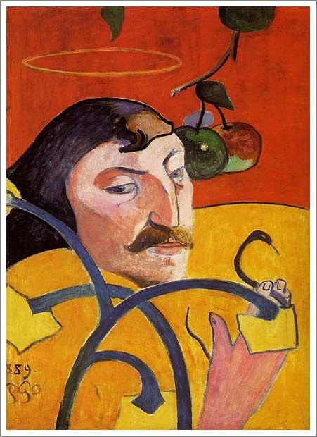 絵画(油絵複製画)制作 ポール・ゴーギャン「戯画的自画像」